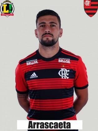 Arrascaeta - 4,5 - Assim como Everton Ribeiro, o uruguaio teve uma noite para esquecer. Sonolento, pouco criativo e displicente... Arrascaeta saiu logo depois de Everton Ribeiro.