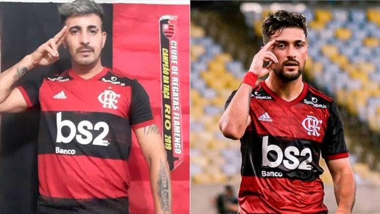 Arrascaeta foi mais um jogador do Flamengo a ter um sósia com o sucesso recente do clube.