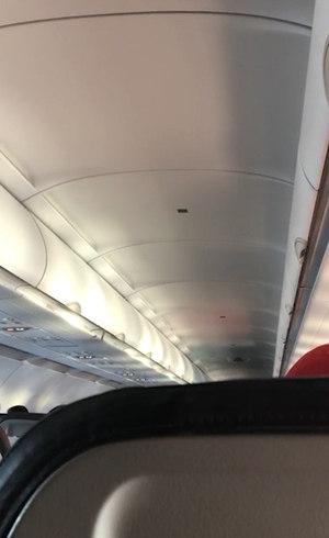 Passageira gravou piloto pedindo desculpas pela manobra