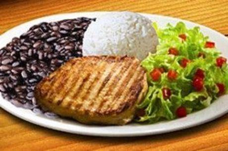 A carne pode ser substituída por frango ou peixe