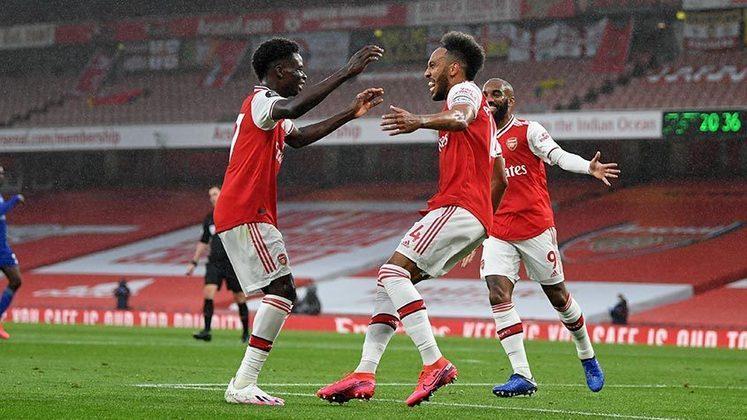 Arsenal - Leno, Mustafi, David Luiz, Kolasinac; Bellerín, Ceballos,  Xhaka, Willian, Tierney; Lacazette e Aubameyang. Técnico: Mikel Arteta.
