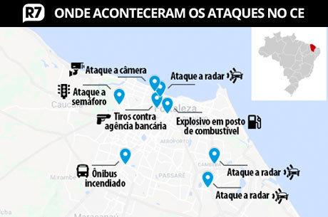 Ceará registra ataques em diversos pontos de Fortaleza e outras cidades