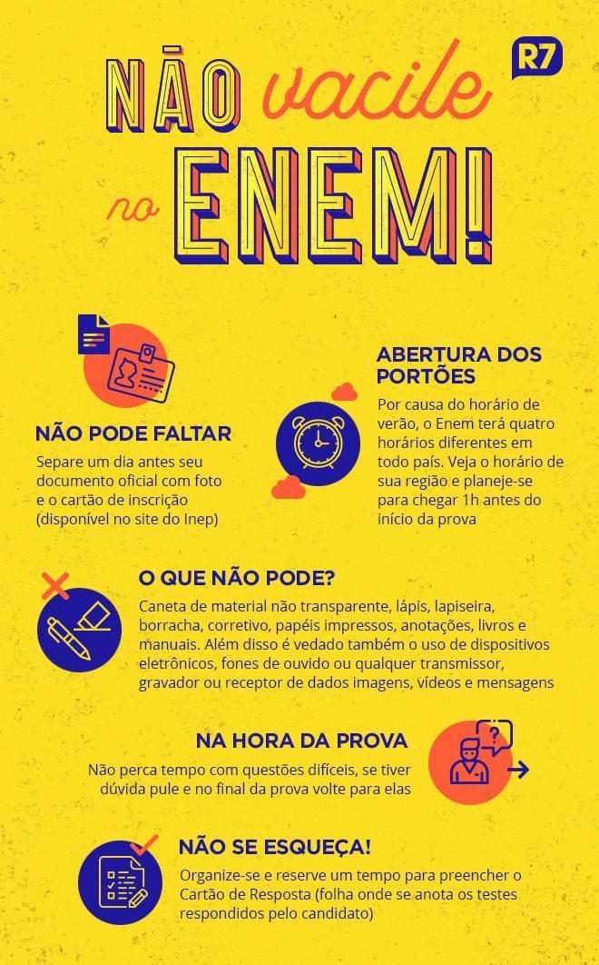 Prova começa às 13h30 do horário de Brasília