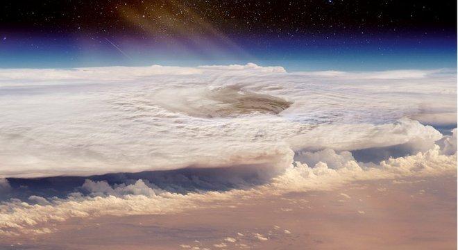 Modelos de computador mostram fortes ventos com força semelhante à de um furacão, movendo-se de um lado para o outro em exoplanetas