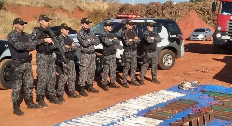 PM e Gate apreendem artefatos explosivos em Araçatuba após ataques