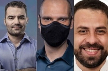 Arthur do Val, Bruno Covas e Guilherme Boulos