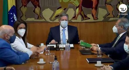 Na imagem, Arthur Lira e Paulo Guedes