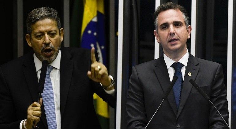 Arthur Lira, novo presidente da Câmara dos Deputados, e Rodrigo Pacheco, novo presidente do Senado