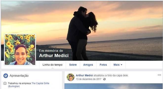 Página de Arthur Medici no Facebook recebe homenagens de parentes e amigos