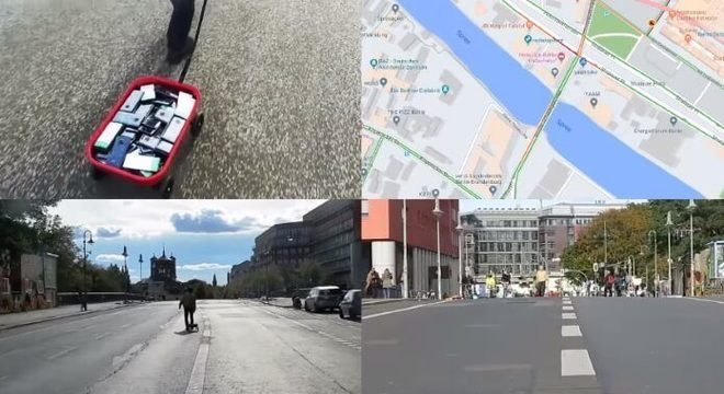 """Esse artista criou um """"engarrafamento virtual"""" arrastando 99 celulares pelas ruas"""