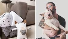 Artista assina linha de itens de decoração com tema canino