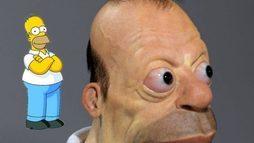 Artista mostra como seria o personagem Homer Simpson na vida real. Veja as imagens ()