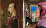 Retrato de uma mulher com um homem em um casamentoAutor: Fra Filippo LippiAno: 1440