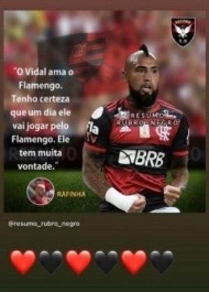 Vidal é flamenguista