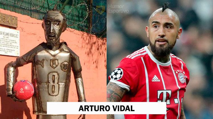 Arturo Vidal virou o Homem de Lata do
