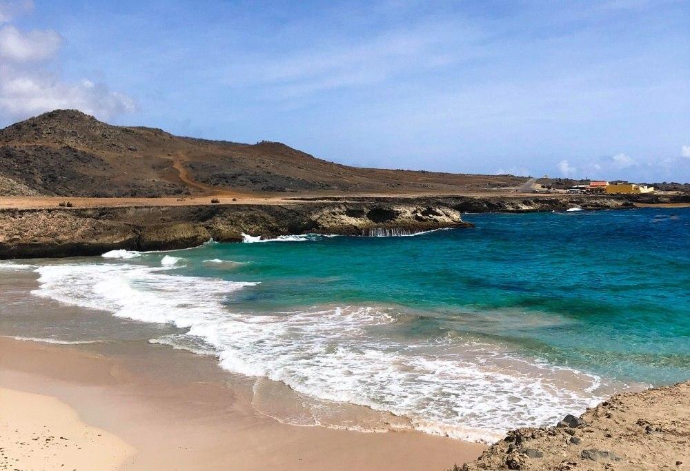 Praia de Andicuri, ou Andicuri Beach, é uma bela paisagem de Aruba