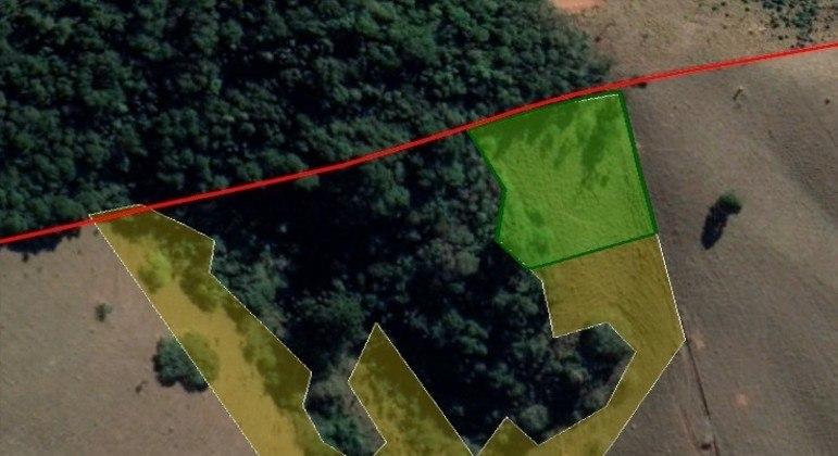 Imagem da área que será florestada
