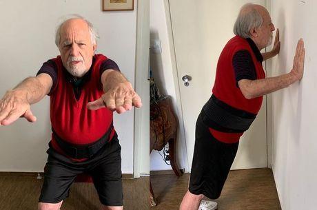 Ary Fontoura faz exercício físico na quarentena