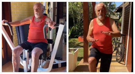 Ary postou vídeo de treino nas redes sociais
