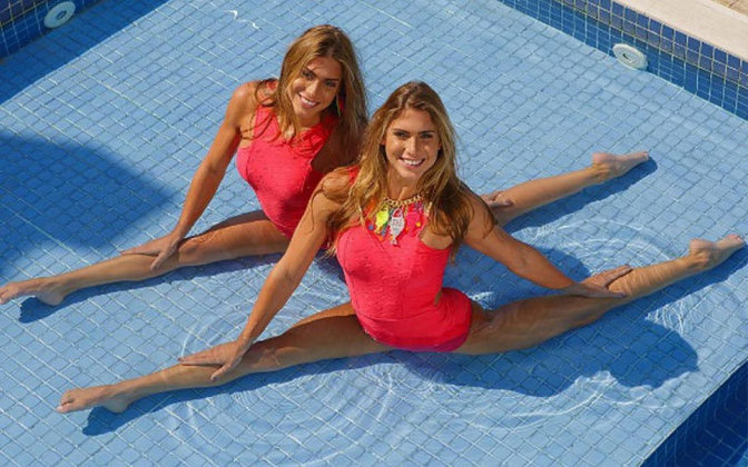 As gêmeas Bia e Branca Feres, medalhistas de bronze por equipes no Pan do Rio no nado artístico, encerraram a carreira nas piscinas e hoje são comentaristas.