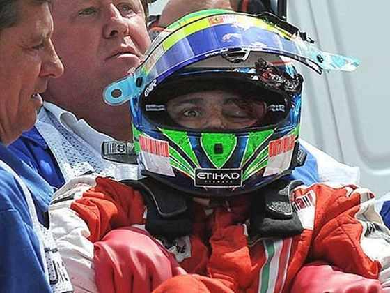 As imagens do acidente foram chocantes e Massa conseguiu voltar apenas em 2010