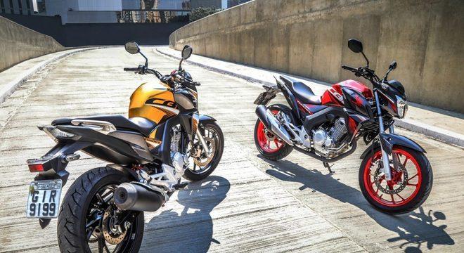 As novas cores são as novidades da CB Twister 250, da Honda / Divulgação