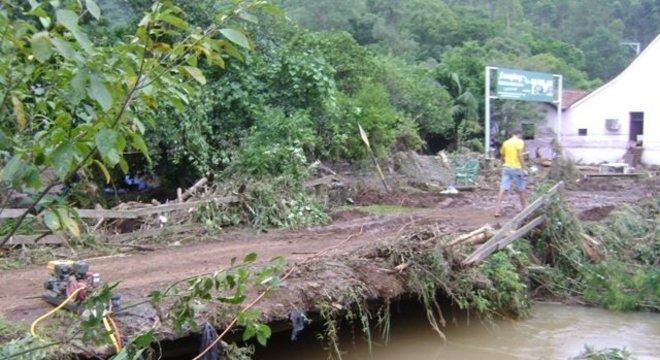 As pontes danificadas serão reconstruídas Crédito: Silmar Melo / Divulgação / CP