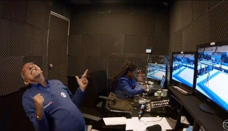 As reações de Galvão Bueno durante as transmissões foram um show à parte. O narrador viralizou com imagens de dentro da cabine de transmissão.