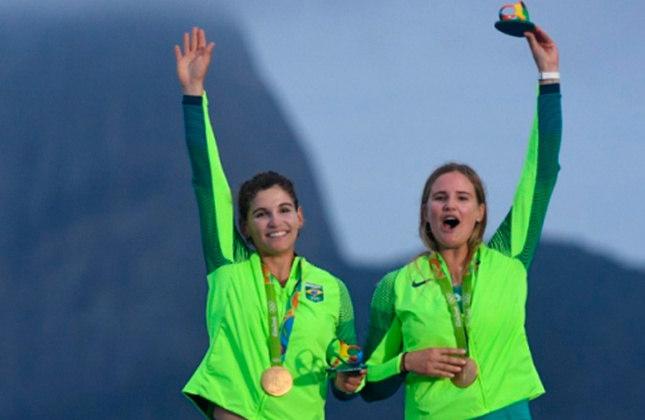 As velejadoras Martine Grael e Kahena Kunze, campeãs olímpicas na classe 49erFX nos Jogos do Rio, mantiveram a parceria de sucesso e tentarão o bicampeonato