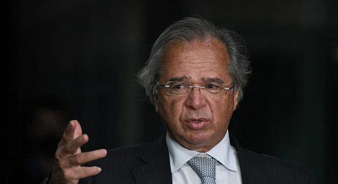 O ministro da Economia, Paulo Guedes, em evento em Brasília