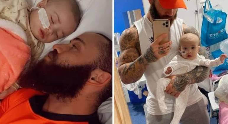 Azaylia, de apenas 7 meses, luta contra uma forma rara de leucemia