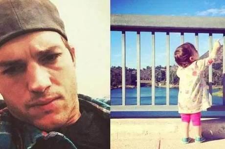 Ashton Kutcher e a filha Wyatt: dedo quebrado