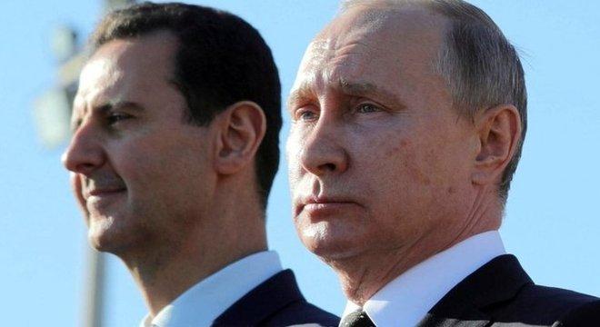 Assad se beneficiou do apoio de Putin na Síria