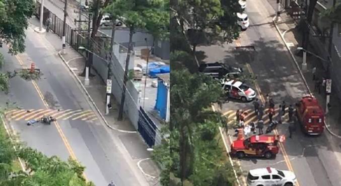 Suspeito foi baleado em rua no Morumbi, zona sul de São Paulo