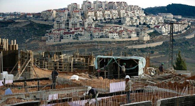 Assentamento de Efrat, em foto de 2016; essas comunidades estão no centro da disputa entre Israel e palestinos