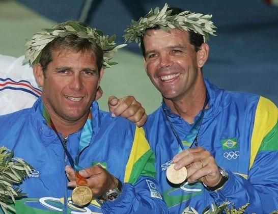 Assim como Scheidt, a dupla Torben Grael e Marcelo Ferreira foi bicampeã olímpica nos Jogos de 2004, em Atenas, na Grécia. Eles repetiram Atlanta e foram os maiorais da Classe Star.