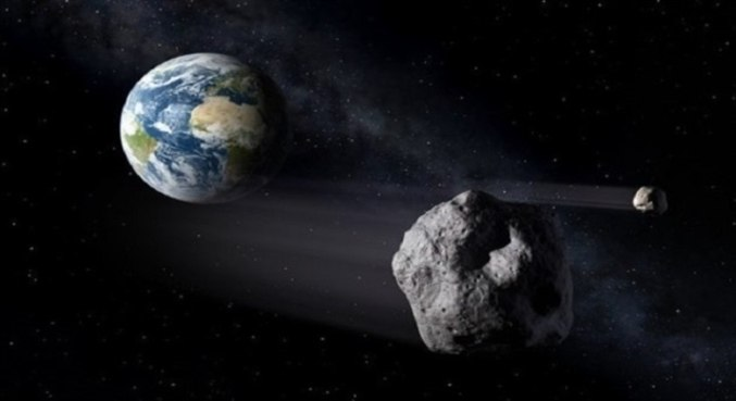 Imagem simula a passagem do asteroide com cerca de 1,6 km de largura