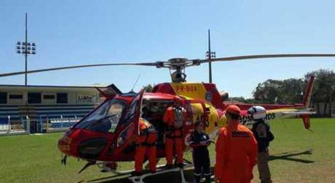 Criança foi levada de helicóptero para Belo Horizonte, mas não resistiu