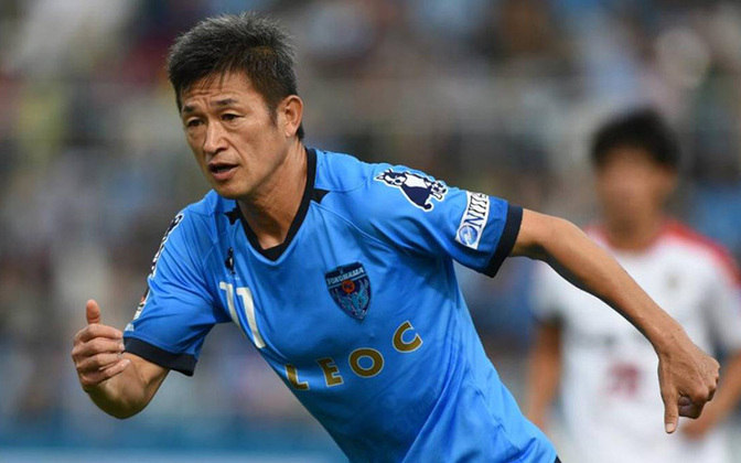 Atacante: Kazuyoshi Miura - Idade: 54 anos - Clube: Yokohama FC (Japão)