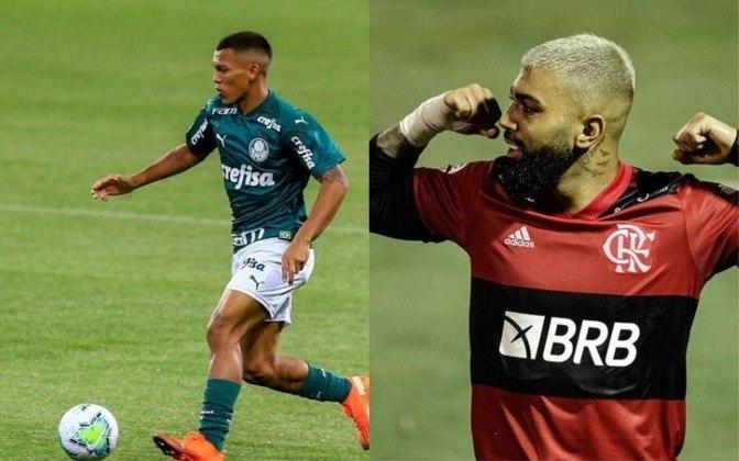 Atacante reserva: Gabriel Veron (atualmente no Palmeiras) x Gabigol (atualmente no Flamengo)