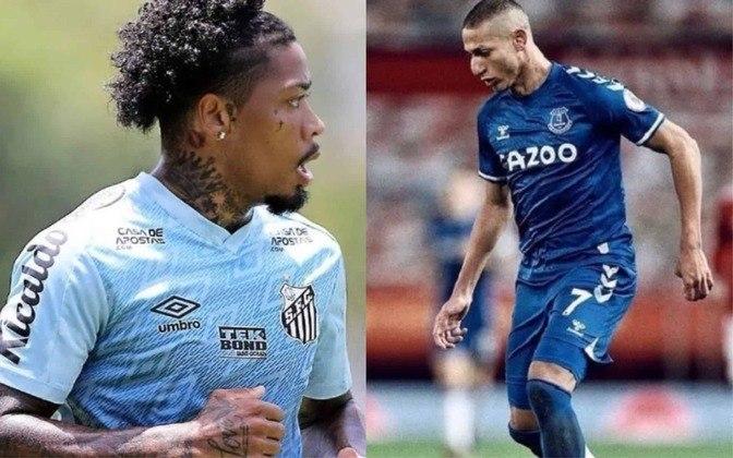 Atacante reserva: Marinho (atualmente no Santos) x Richarlison (atualmente no Everton)