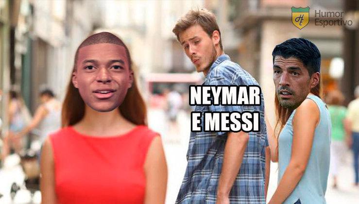 Atacante uruguaio fez sucesso junto com Neymar e Messi no Barcelona, com trio MSN, e agora vê dupla se reencontrar no PSG. Confira algumas brincadeiras que circularam na web! (Por Humor Esportivo)