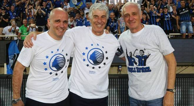 Luca Percassi, Gian Piero Gasperini e Antonio Percassi