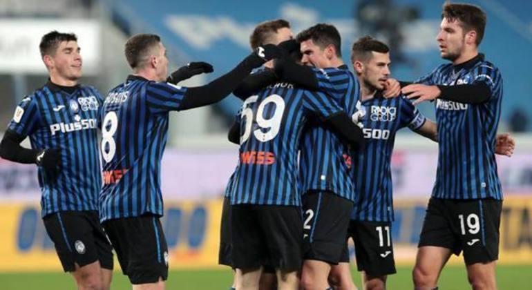 Na Atalanta, alegria pela classificação diante do Cagliari