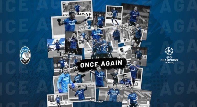 "A capa do Twitter da Atalanta, de novo na ""Champions"""