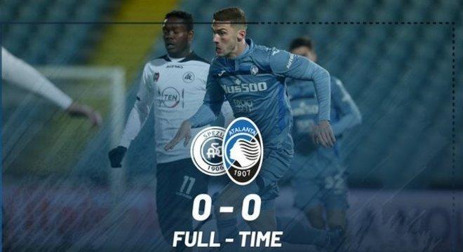 Atalanta, apenas o 0 X 0 diante do Spezia