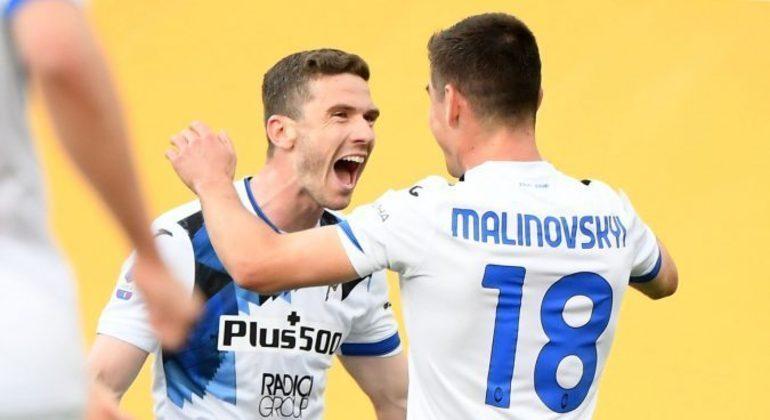 A celebração do 1 X 0 de Malinovskyi