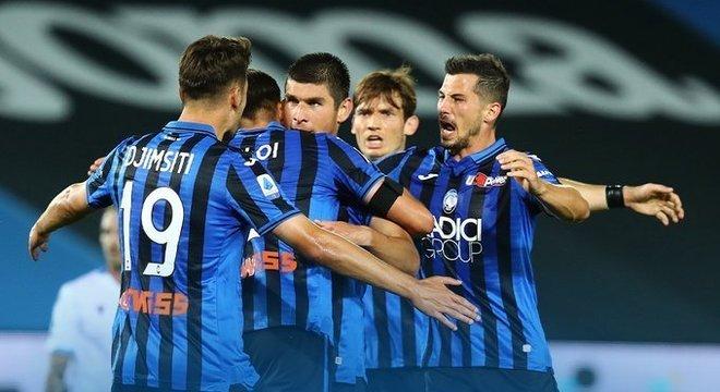 Celebração justíssima, Atalanta 3 X 2 Lazio