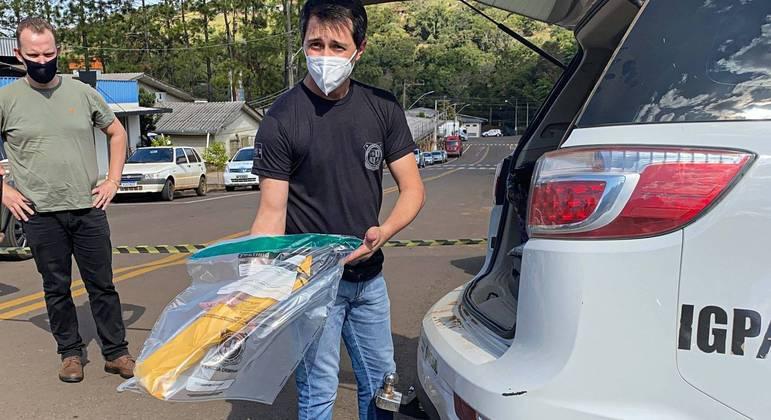 Faca usada no ataque a creche em Saudades (SC)