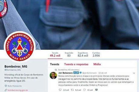 Invasores compartilharam conteúdo político na página